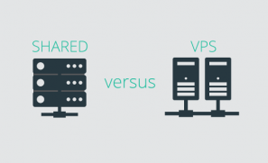Shared Hosting Versus VPS Hosting Graphic