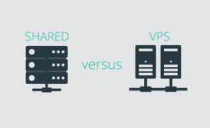 Shared Hosting Versus VPS Hosting Graphic