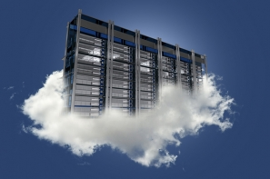 rack-server-on-clouds-with-dark-blue-background