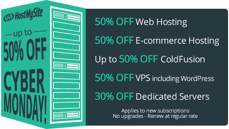 HostMySite Cyber Monday Discouts