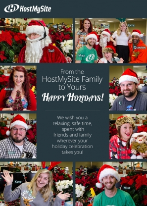HostMySite Staff Christmas/Holiday Photos Greeting Card