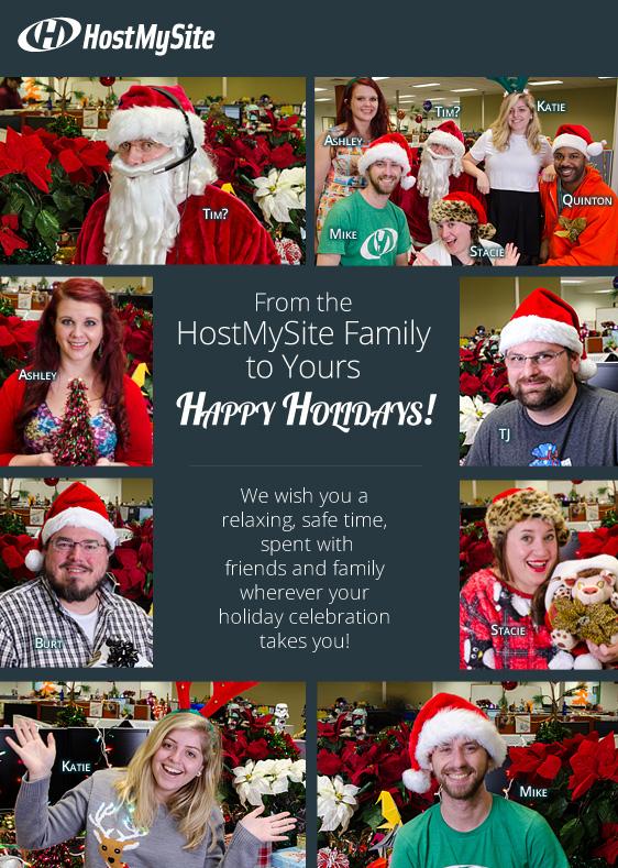 HostMySite Staff Christmas/Holiday Photos Greeting Card