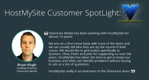 Bryan Klugh of VisionLine Media with Testimonial