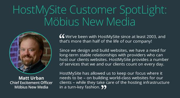 HostMySite Customer SpotLight - Matt Urban - Mobius New Media